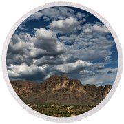 Round Beach Towel featuring the photograph In The Midst Of The Superstitions  by Saija Lehtonen