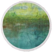 Through The Mist 2 Round Beach Towel