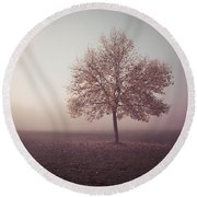 Round Beach Towel featuring the photograph In The Mood For Fall by Hannes Cmarits