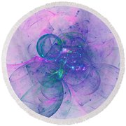 Round Beach Towel featuring the digital art In The Mood by Jeff Iverson