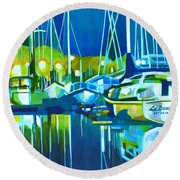 In The Moonlight Round Beach Towel