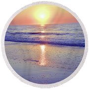 In The Morning Light Everything Is Alright Round Beach Towel