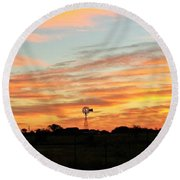 In The Morning Still Round Beach Towel