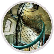 In The Old Lighthouse Round Beach Towel