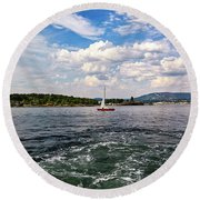 In The Oslo Fjord Round Beach Towel