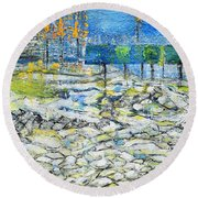 In The Park Round Beach Towel by Evelina Popilian