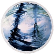 In The Ripple Round Beach Towel