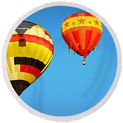 In The Shadow Round Beach Towel