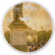 Paris, France - In The Shadow Of Glory Round Beach Towel