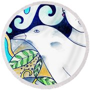 In The Spirit Of Unity 1 Round Beach Towel
