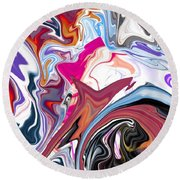 In The Valley Round Beach Towel