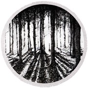 In The Woods 2 Round Beach Towel