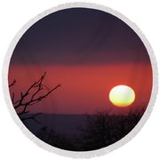 Round Beach Towel featuring the photograph In The Zone by Alex Lapidus