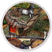 In Times Of Need Round Beach Towel