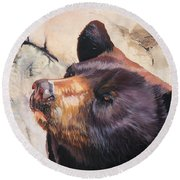 In Your Eyes Round Beach Towel