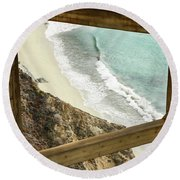 Inaccessible Beauty Round Beach Towel