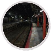 Inari Station, Kyoto Japan Round Beach Towel