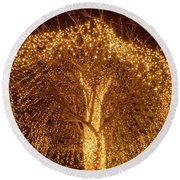 Incandescent Branches  Round Beach Towel