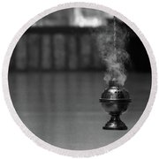 Incense Round Beach Towel