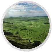 Incide The Bowl Terceira Island, Azores, Portugal Round Beach Towel by Kelly Hazel