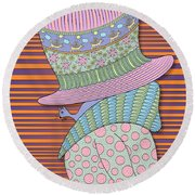 Incognito Round Beach Towel