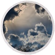 Incredible Clouds Round Beach Towel