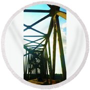 Round Beach Towel featuring the photograph Indefinite Sight by Jamie Lynn