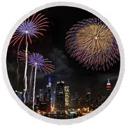 Independence Day Round Beach Towel