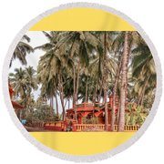 India House Round Beach Towel