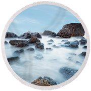 Indian Beach At Ecola State Park, Oregon  Round Beach Towel