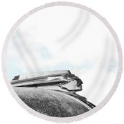 Indian Chief Hood Ornament Round Beach Towel