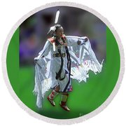 Round Beach Towel featuring the photograph Indian Dancer by Joseph J Stevens