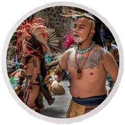 Indian Dancers Round Beach Towel