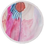 Indian Flower Round Beach Towel