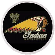 Indian Motorcycle Logo Series 2 Round Beach Towel