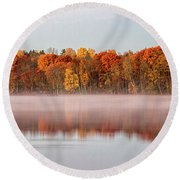 Indian Point Morning Round Beach Towel
