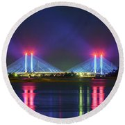 Indian River Inlet Bridge Round Beach Towel