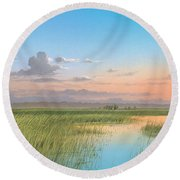 Indian River Round Beach Towel