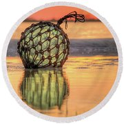 Round Beach Towel featuring the photograph Indian River Sunset by JC Findley