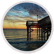 Round Beach Towel featuring the photograph Indian Rocks Sunset by Paul Mashburn