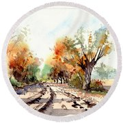 Indian Summer I Round Beach Towel