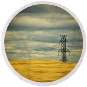 Indiana Dunes National Lakeshore II Round Beach Towel