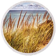 Indiana Dunes National Lakeshore Round Beach Towel