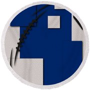 Indianapolis Colts Football Art Round Beach Towel