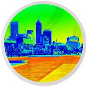 Indianapolis Heat Tone Round Beach Towel