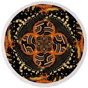 Indigenous Galaxy Round Beach Towel