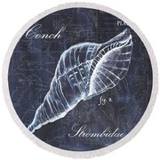 Indigo Verde Mar 3 Round Beach Towel