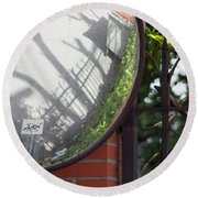 Round Beach Towel featuring the photograph Indirect Nature by Ana Mireles