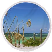 Round Beach Towel featuring the photograph Indulging In Memories by Michiale Schneider