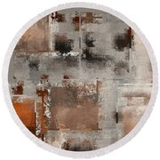 Industrial Abstract - 01t02 Round Beach Towel